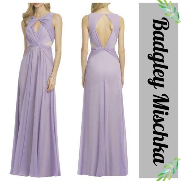 Badgley Mischka Dresses | Lavender Nude Runway Gown 4 | Poshmark
